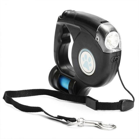 4.5M LED Flashlight Retractable Leash with Bag Dispenser