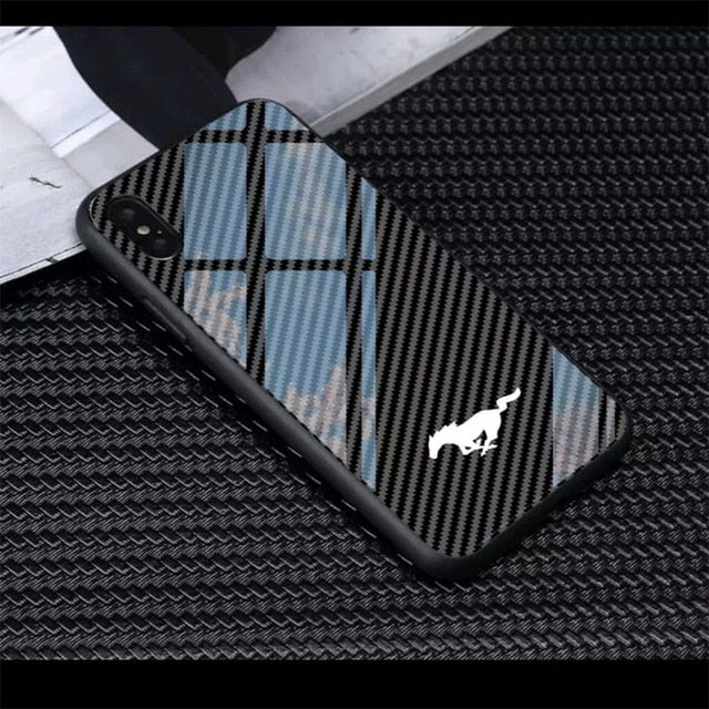 Carbon Fiber Mustang phone case for iPhone 50% DISCOUNT!