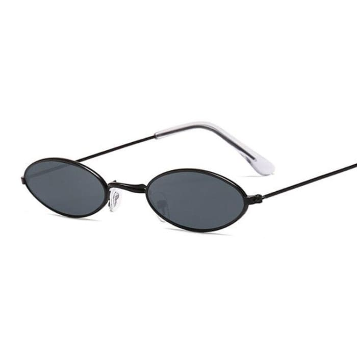 90S OVAL SUNGLASSES - Black