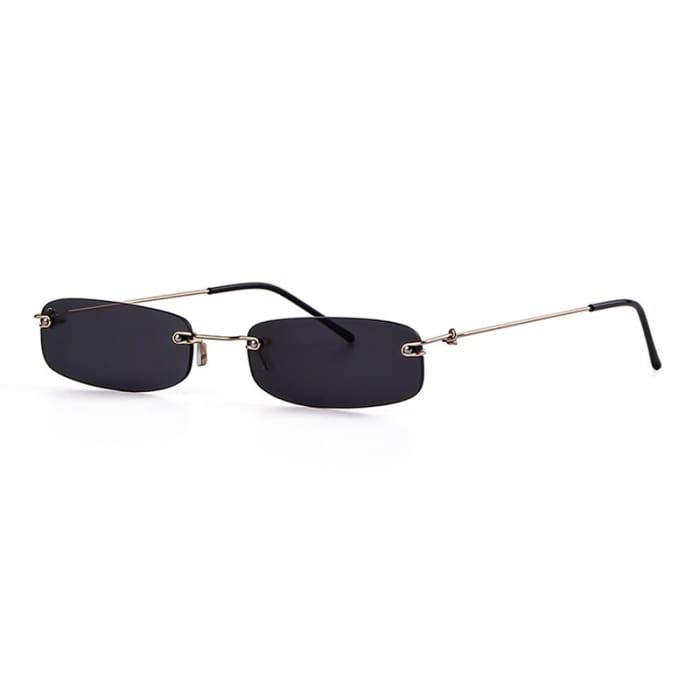 90S RIMLESS SUNGLASSES - Black