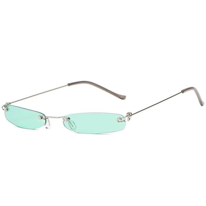 90S RIMLESS SUNGLASSES - Green