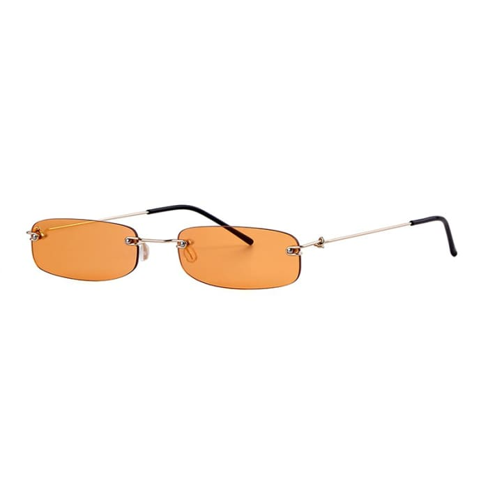 90S RIMLESS SUNGLASSES - Orange