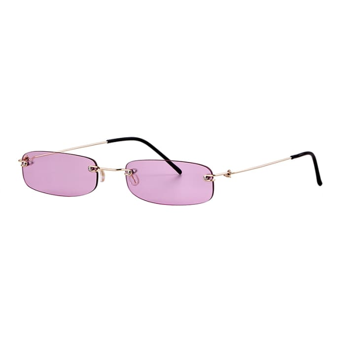 90S RIMLESS SUNGLASSES - Purple