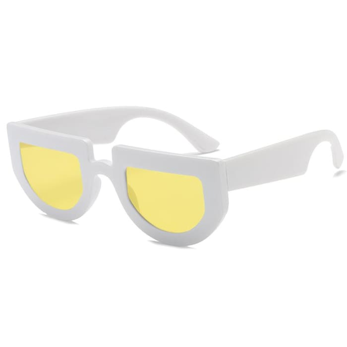 BRIDGE SUNGLASSES - White/Yellow
