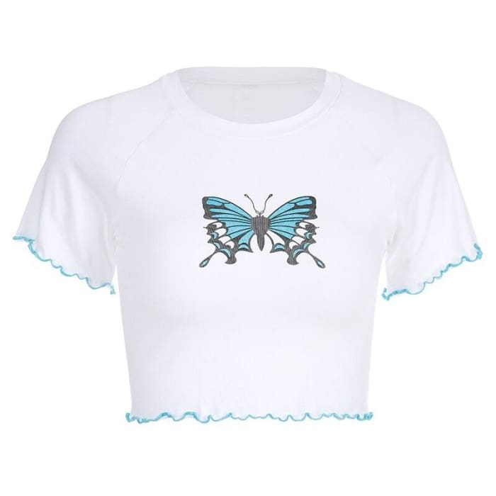 BUTTERFLY TOP - Short sleeve / L