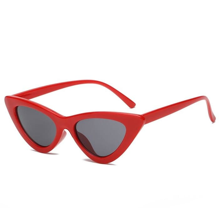 CAT EYE SUNGLASSES - Red/Black