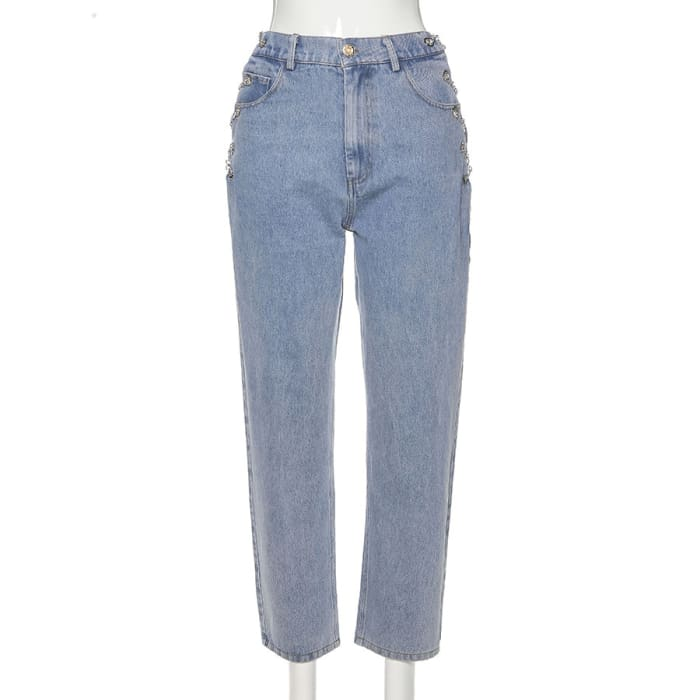 CHAINS JEANS - Blue / S