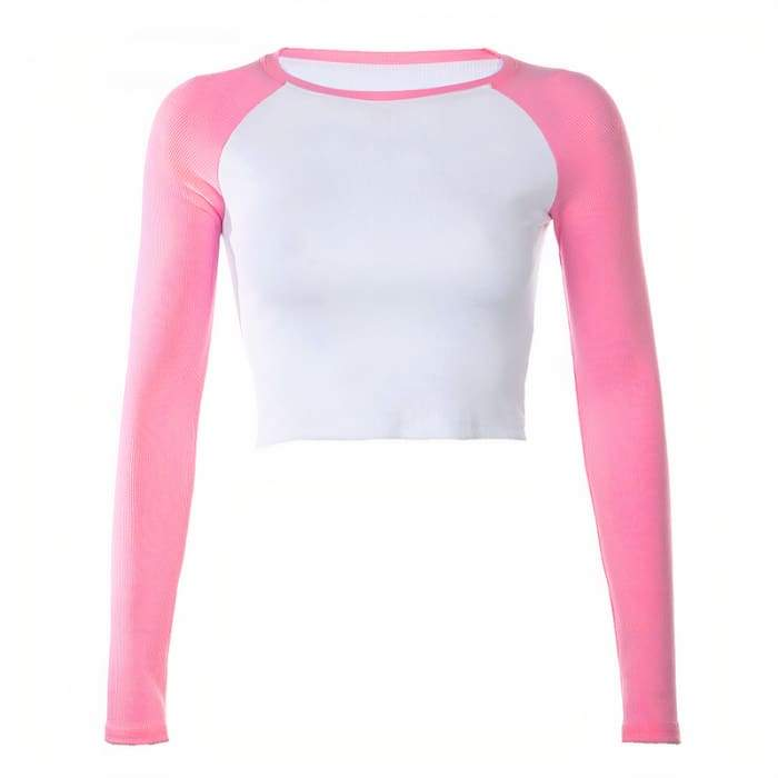 COLLEGE TOP - pink / L