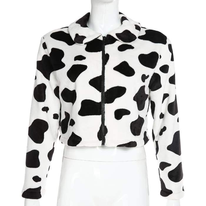 COW PRINT JACKET - Cow print / S