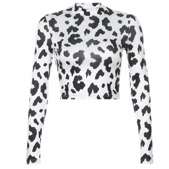 COW PRINT TURTLENECK - Cow print / M