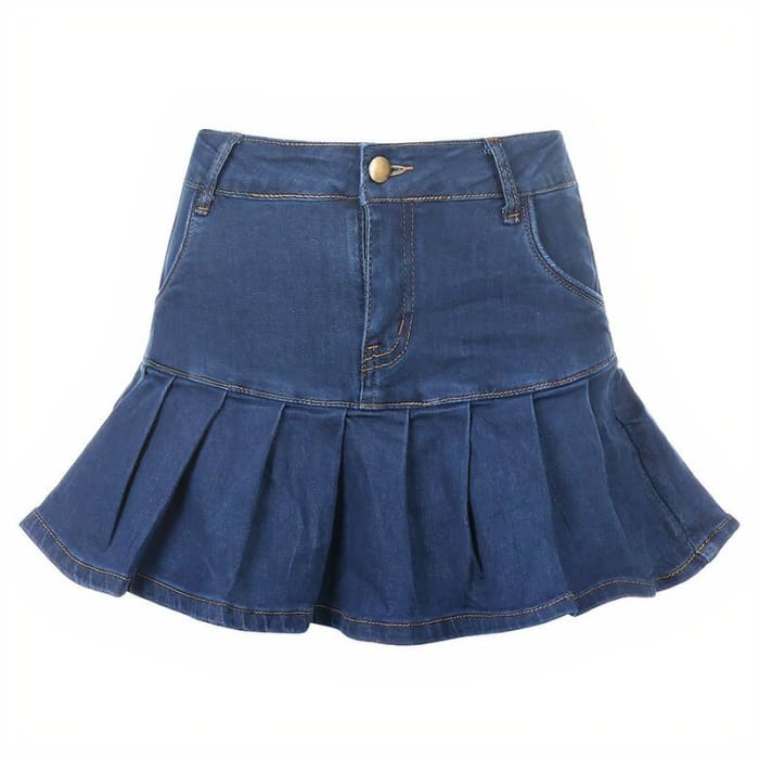 DENIM SKIRT - Blue / M