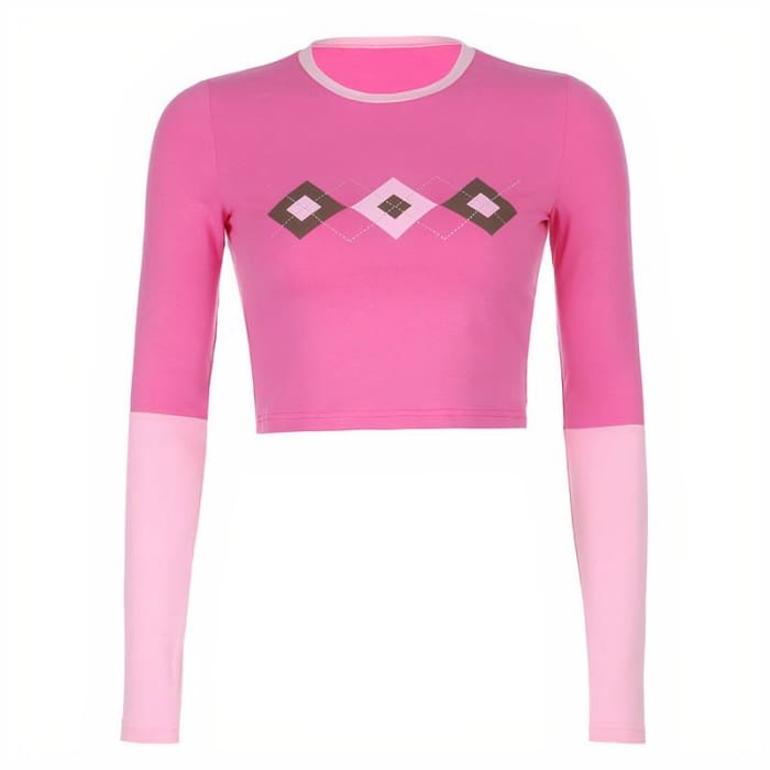 DIAMOND PINK TOP - Pink / M