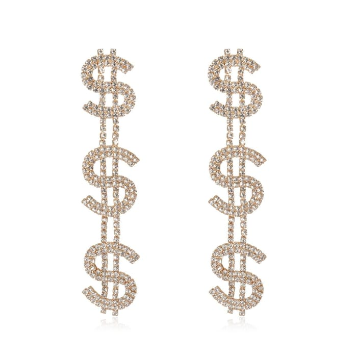 DOLLARS EARRINGS - Gold