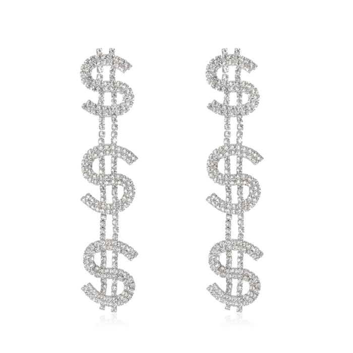 DOLLARS EARRINGS - Silver