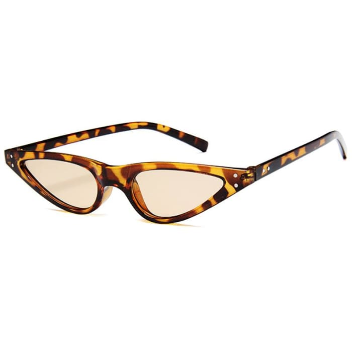 GEOMETRIC SUNGLASSES - Leopard