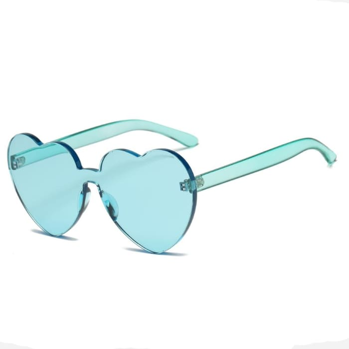 HEART SUNGLASSES - Green