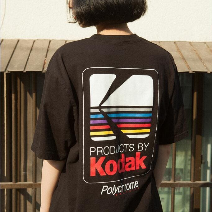KODAK RETRO TEE - Black / S