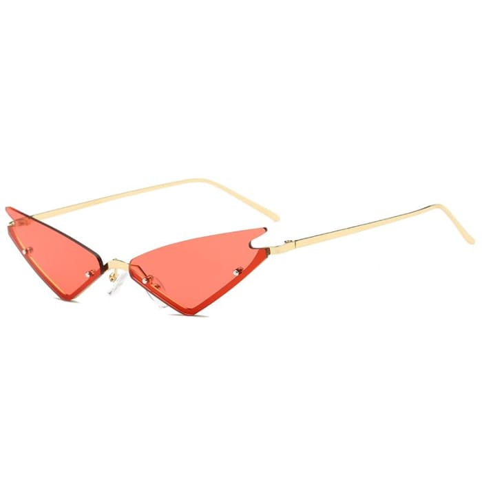 MIRROR CAT EYE SUNGLASSES - Red