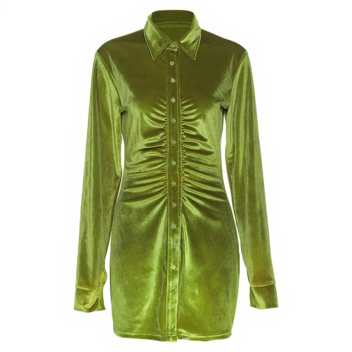 NATURE DRESS - Green / M