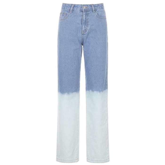 PAINTED JEANS - Blue / S