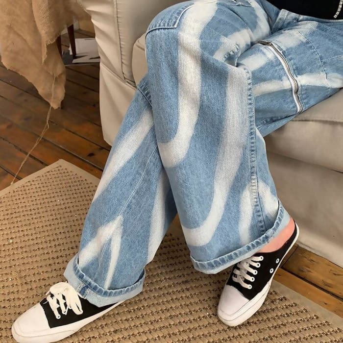 PAINTED STRIPES JEANS