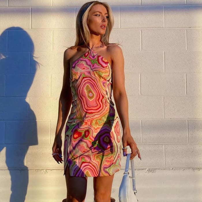 PSYCHEDELIC CANDY DRESS