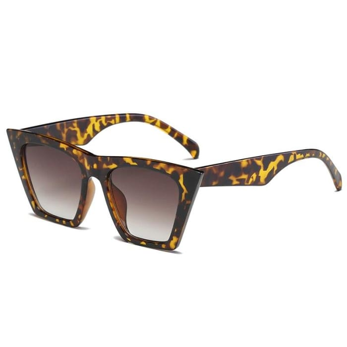 RECTANGULAR CAT EYE SUNGLASSES - Leopard