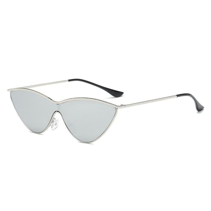 RETRO CAT EYE SUNGLASSES - Silver