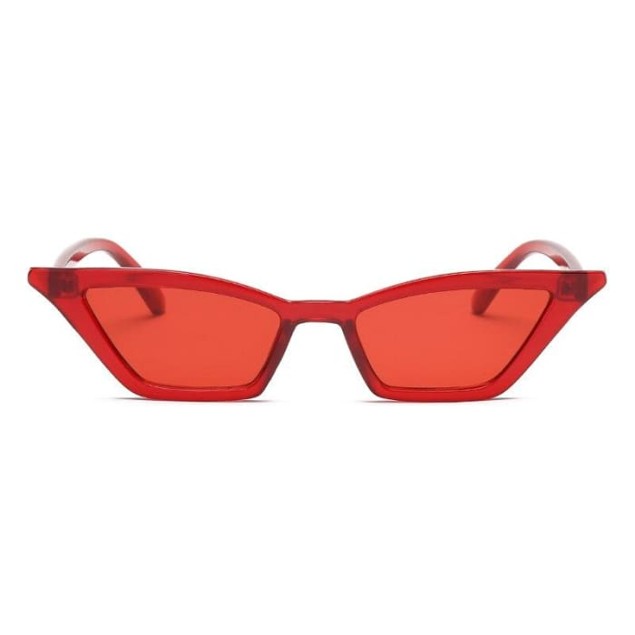 WIDE CAT EYE SUNGLASSES - Red