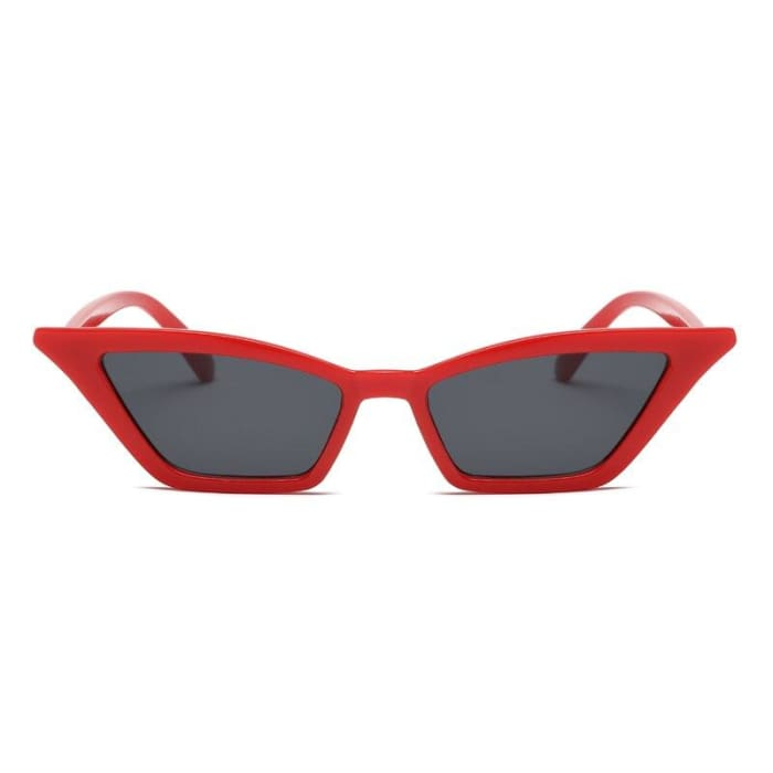 WIDE CAT EYE SUNGLASSES - Red/Black