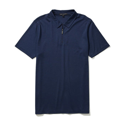 THE BARAKETT ZIP POLO - Blue night
