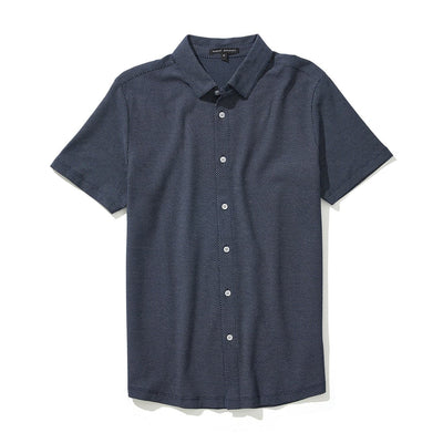 BRODERICK KNIT SHIRT - Blue night