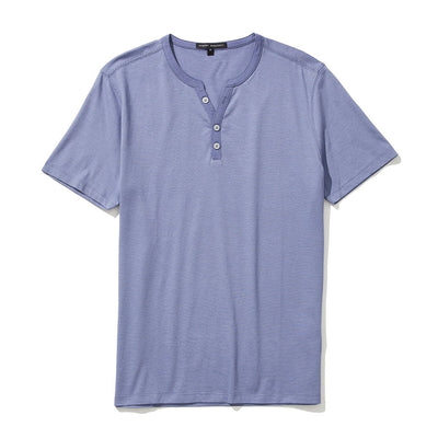 ASHER Y-NECK TEE - Misty lilac