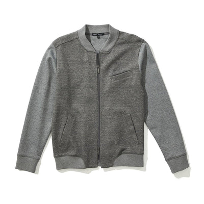 ELMHURST BASEBALL JACKET - Mid grey