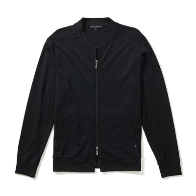 THE BARAKETT BASEBALL JACKET - Black