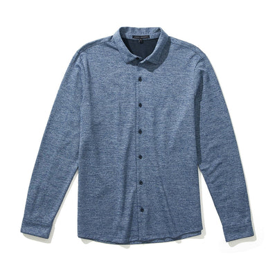 GILBERT KNIT SHIRT - Blue