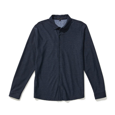 GILBERT KNIT SHIRT - Navy