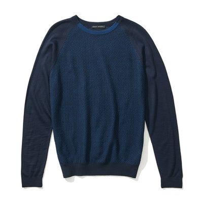 TILTON CREW SWEATER - Navy