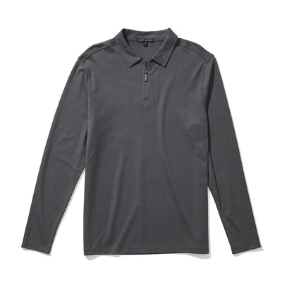 THE BARAKETT LS ZIP POLO - Iron
