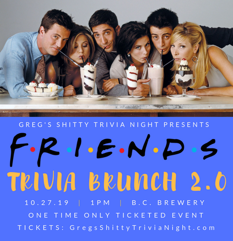 friends' trivia brunch banner