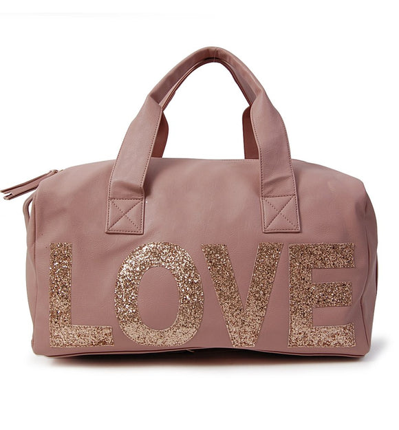 Omg! Accessories Glitter Love Weekender Bag