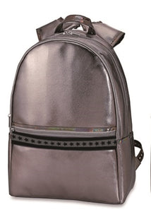 Top Trenz Leather Backpack With Decorative Stripes