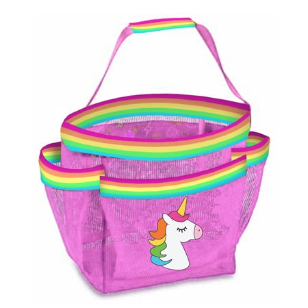 Top Trenz Unicorn Stripe Mesh Shower Caddy