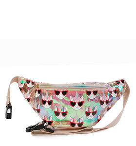 Omg! Accessories Cool Unicorn Clear Fanny Pack