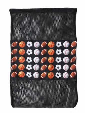 Top Trenz Sports Print Mesh Laundry Bag