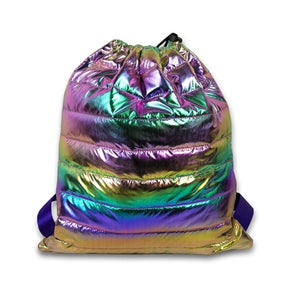 Top Trenz Puffer Sling Backpack Bag | Multi
