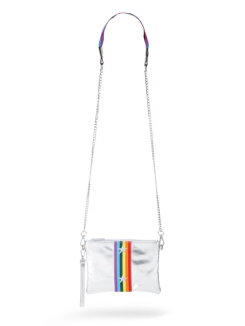 Bari Lynn Rainbow Star Metallic Crossbody Bag