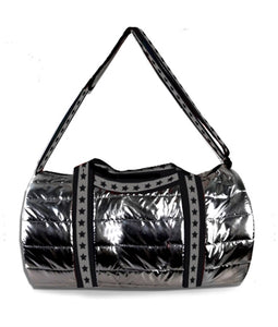 7a477ab9576a Top Trenz Metallic Puffer Duffel With Star Straps | Metallic