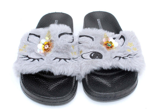 Big Girls Whimsical Slides | Grey