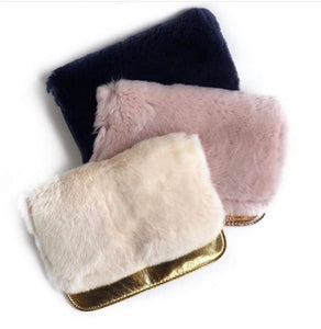Bari Lynn Fur Crossbody/Clutch Bag